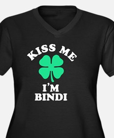 Funny Bindi Women's Plus Size V-Neck Dark T-Shirt