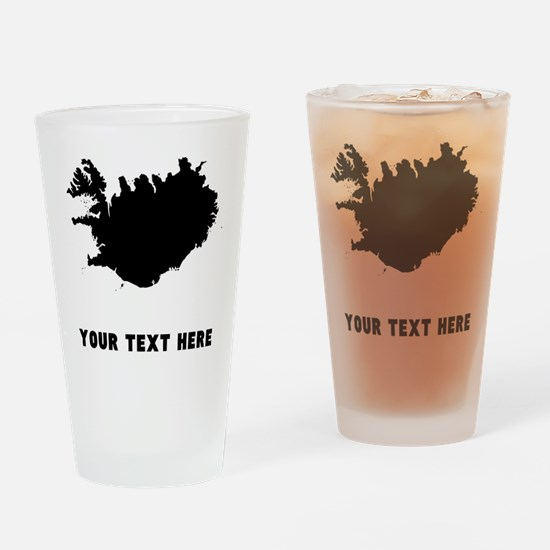 Iceland Silhouette (Custom) Drinking Glass