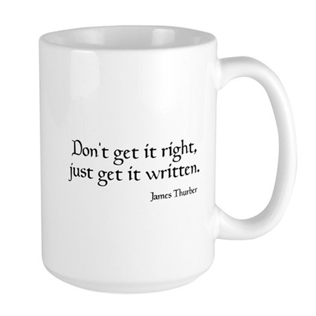 James Thurber Quote Large Mug
