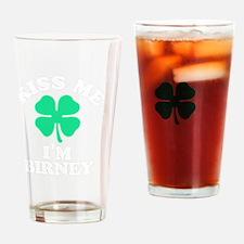 Funny Birney Drinking Glass