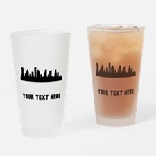 Houston Cityscape Skyline (Custom) Drinking Glass