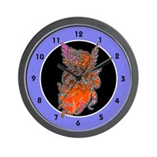 Pretty Orange Angel Wall Clock
