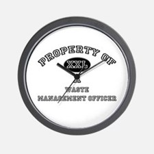 Property of a Waste Management Officer Wall Clock