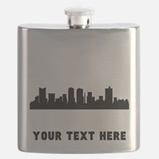 Fort Worth Cityscape Skyline (Custom) Flask