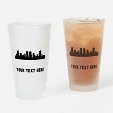Fort Worth Cityscape Skyline (Custom) Drinking Gla