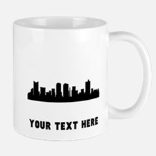 Fort Worth Cityscape Skyline (Custom) Mugs