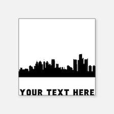 Detroit Cityscape Skyline (Custom) Sticker