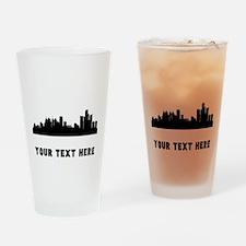 Detroit Cityscape Skyline (Custom) Drinking Glass
