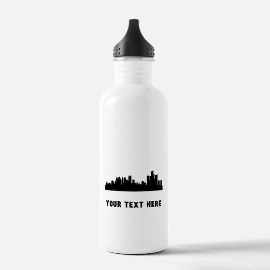 Detroit Cityscape Skyline (Custom) Water Bottle