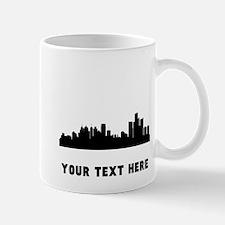 Detroit Cityscape Skyline (Custom) Mugs