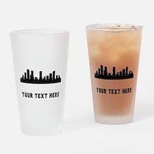 Denver Cityscape Skyline (Custom) Drinking Glass