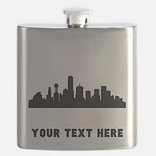 Dallas Cityscape Skyline (Custom) Flask