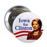 Iowa for Hillary Clinton Button