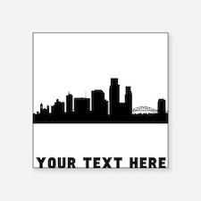 Corpus Christi Cityscape Skyline (Custom) Sticker