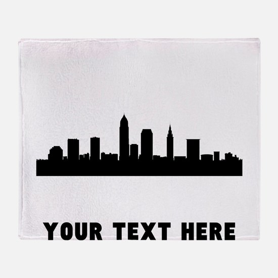 Cleveland Cityscape Skyline (Custom) Throw Blanket