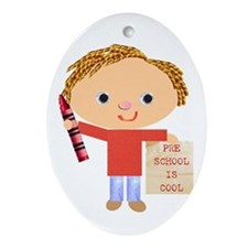 Preschool Oval Ornament