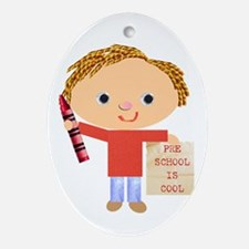 Preschool Oval Ornament