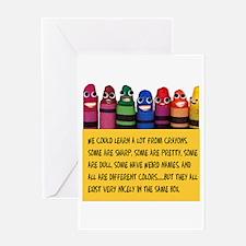 Peaceful Crayons Greeting Card
