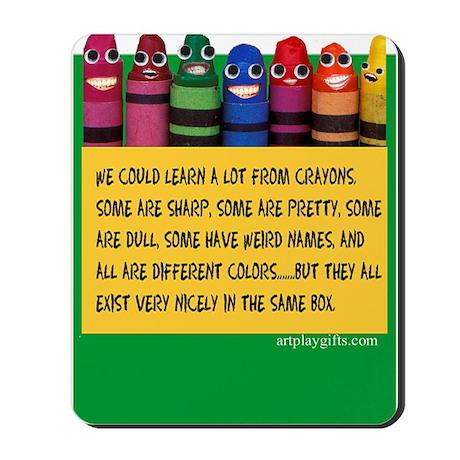 Peaceful Crayons Mousepad