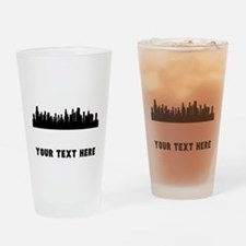 Chicago Cityscape Skyline (Custom) Drinking Glass