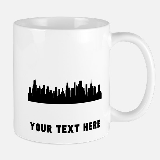 Chicago Cityscape Skyline (Custom) Mugs