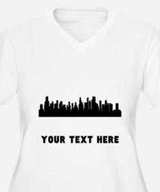 Chicago Cityscape Skyline (Custom) Plus Size T-Shi