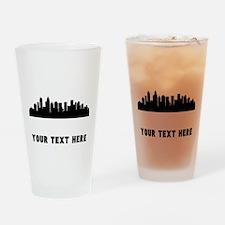 Charlotte Cityscape Skyline (Custom) Drinking Glas