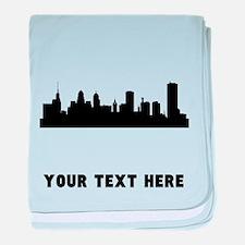 Buffalo Cityscape Skyline (Custom) baby blanket