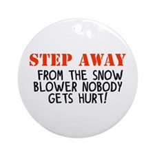 step away snow blower Ornament (Round)