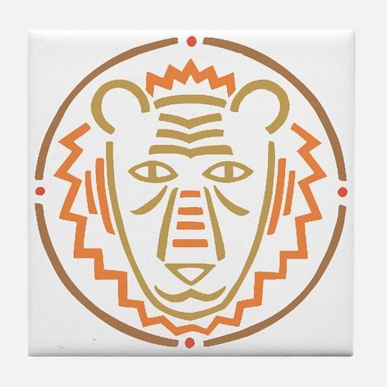 Lion Mask Tile Coaster