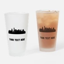 Boston Cityscape Skyline (Custom) Drinking Glass