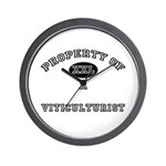 Property of a Viticulturist Wall Clock