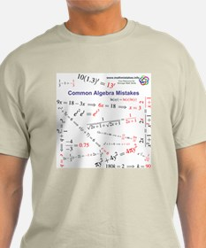Common Algebra Mistakes Light Color T-Shirt