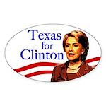 Oval Texas for Clinton Bumper Sticker