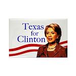 Texas for Clinton Rectangle Magnet