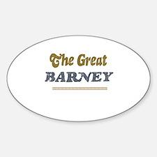 Barney Oval Decal