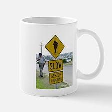 SLOW GEEZER CROSSING Mugs
