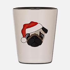 Cute Santa pug Shot Glass