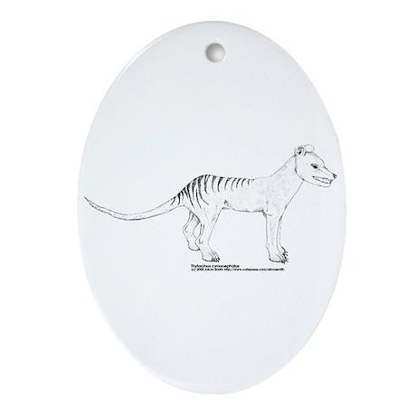 Thylacine Standing Oval Ornament