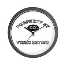 Property of a Video Editor Wall Clock