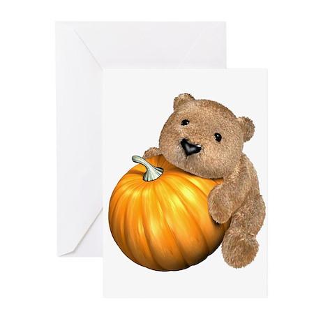 Halloween Pumpkin Bear Greeting Cards (Pk of 10)