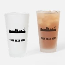 Albuquerque Cityscape Skyline (Custom) Drinking Gl