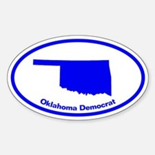 Oklahoma BLUE STATE Oval Decal