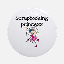 Scrapbooking Princess Ornament (Round)