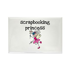 Scrapbooking Princess Rectangle Magnet (10 pack)