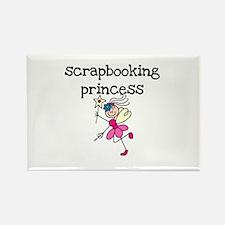 Scrapbooking Princess Rectangle Magnet