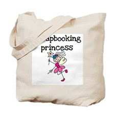 Scrapbooking Princess Tote Bag