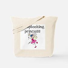 Scrapbooking Princess Tote Bag