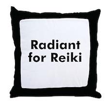 Radiant for Reiki Throw Pillow