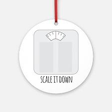 Scale It Down Round Ornament